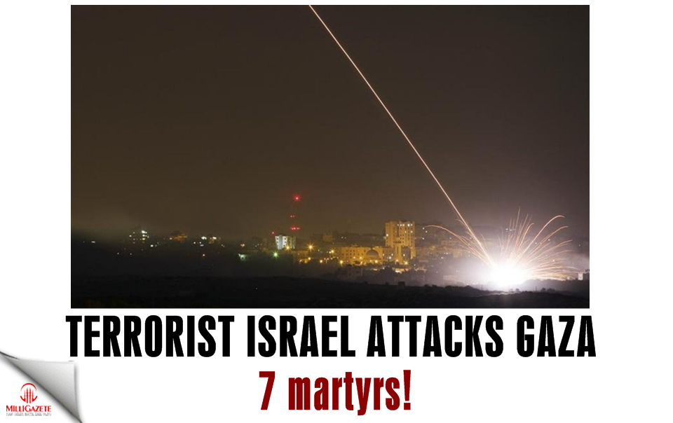 Terrorist Israel attacks Gaza: 7 martyrs