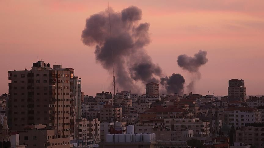 Terrorist Israel bombed Gaza: There are martyrs!