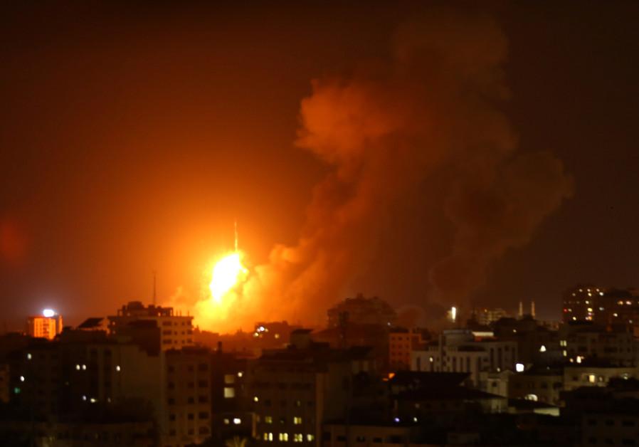 Terrorist Israel continues to pound Gaza