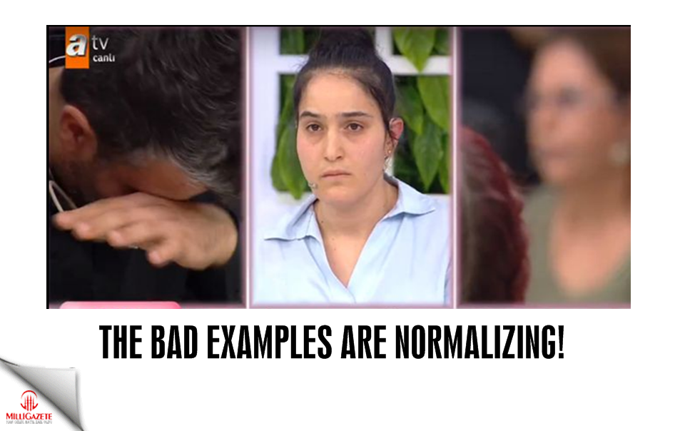 The bad examples are normalizing