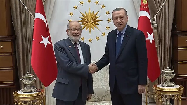 The Chairman of Saadet Party Temel Karamollaoglu met with President Erdogan