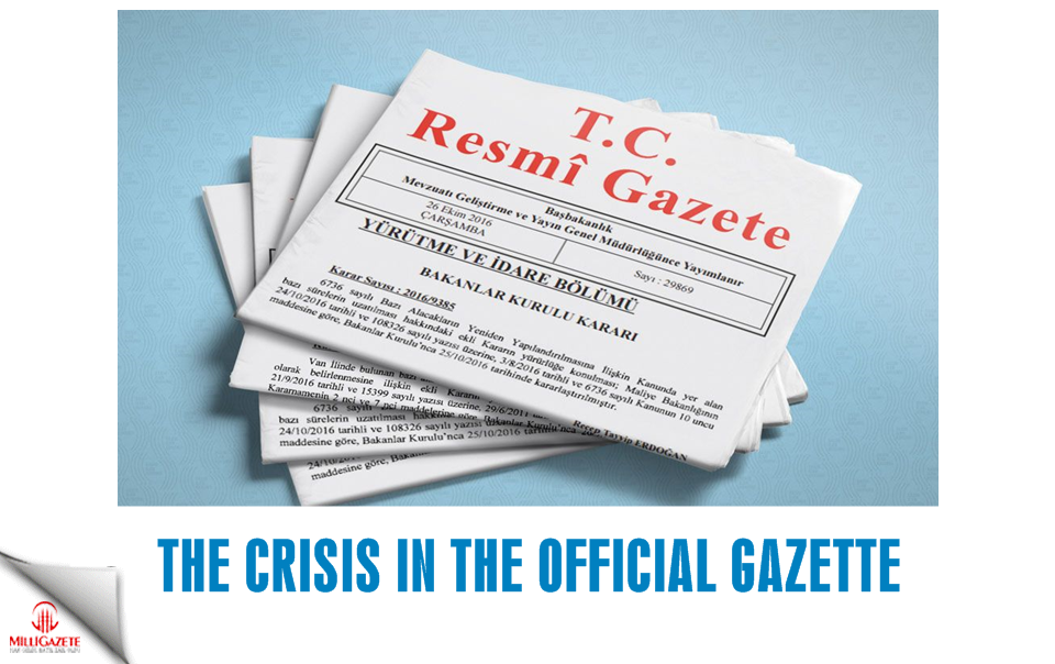 The crisis in the Official Gazette