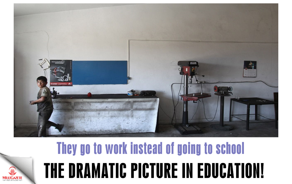 The dramatic picture in education! They go to work instead of going to school