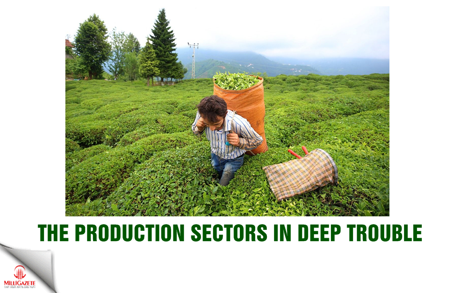 The production sectors in deep trouble