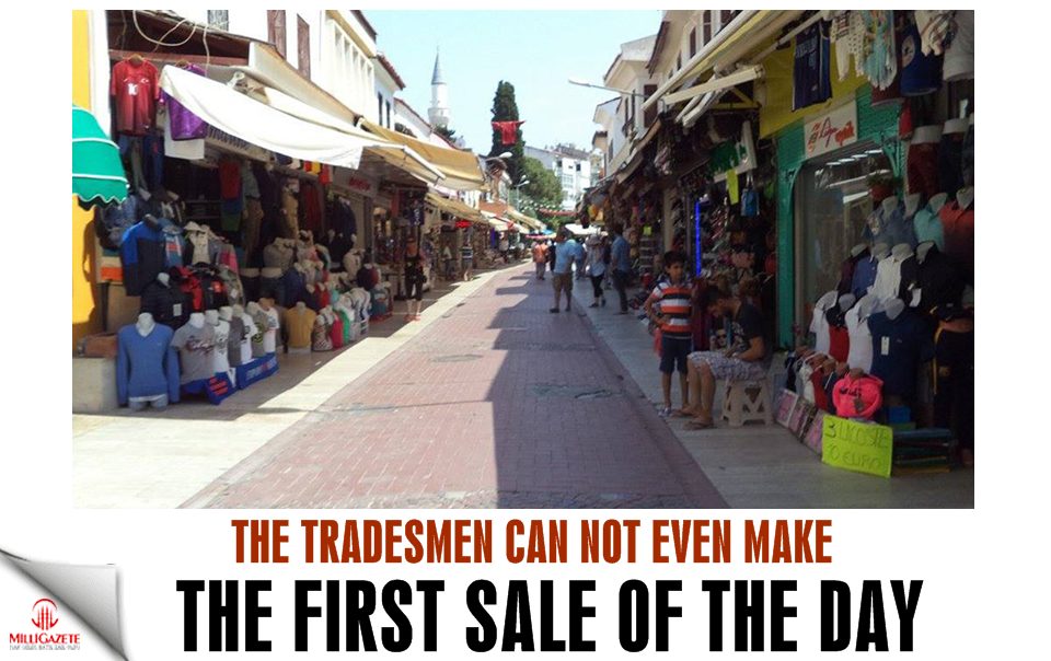 The tradesmen can not even make the first sale of the day