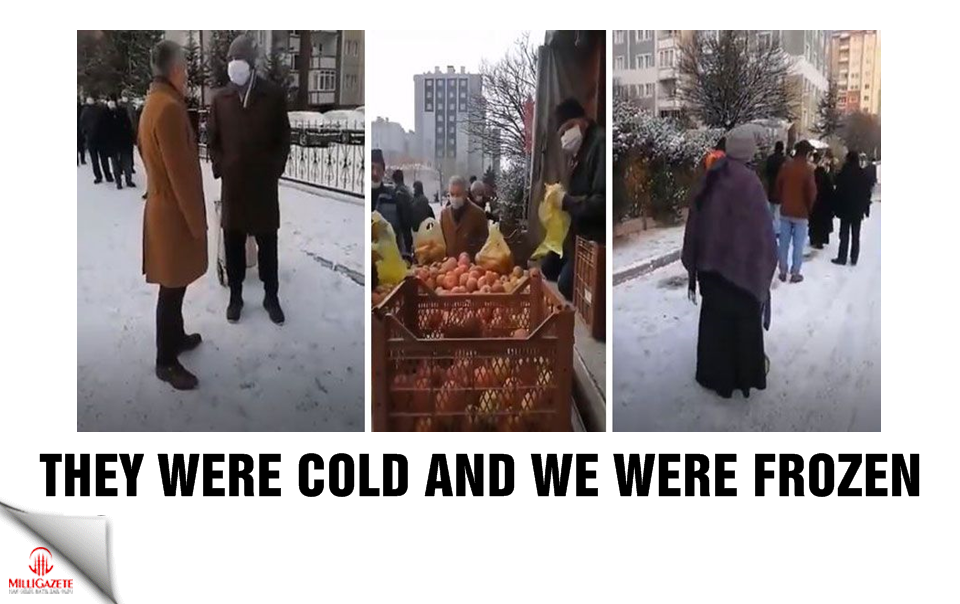 They were cold and we were frozen