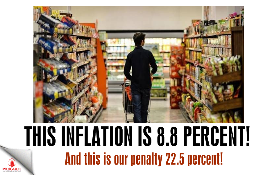 This inflation is 8.8 percent! This is our penalty 22.5 percent