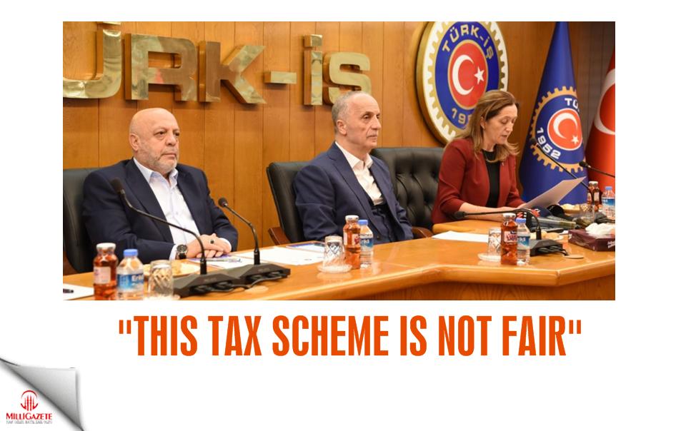 """""""This tax scheme is not fair"""""""