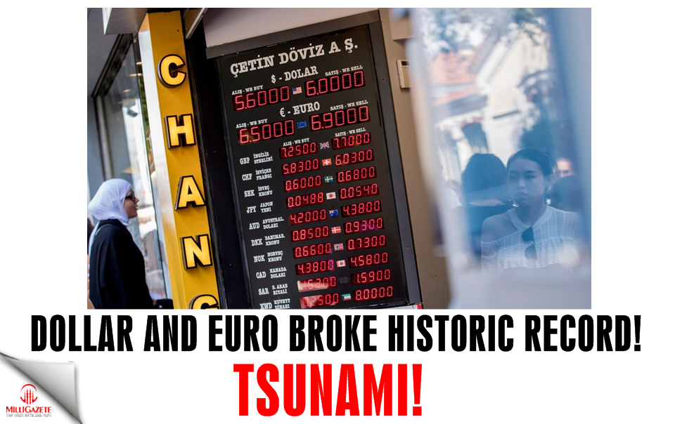 Tsunami! Dollar and Euro broke historic record