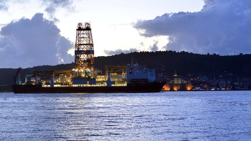 Turkey's first drilling ship passes Gallipoli