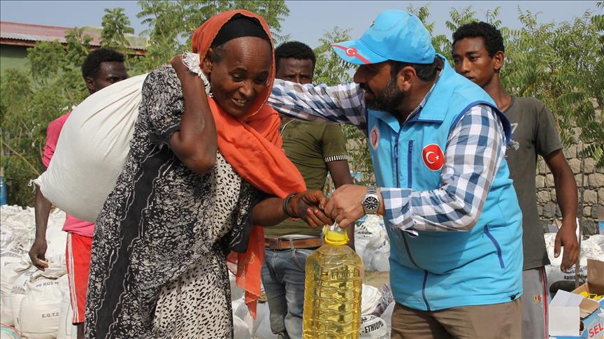 Turkey gives food aid to 1,500 Ethiopian families