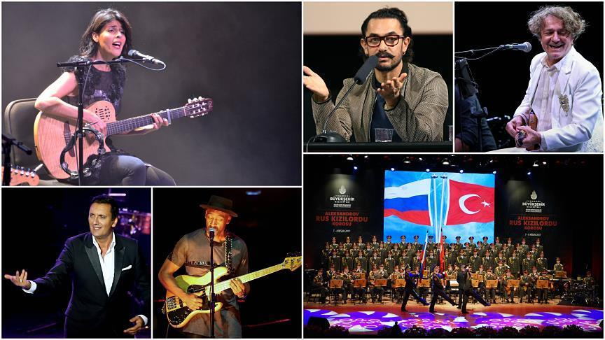 Turkey hosts popular singers, shows in 2017
