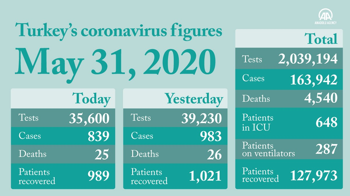 Turkeys COVID-19 cases remain at anticipated level