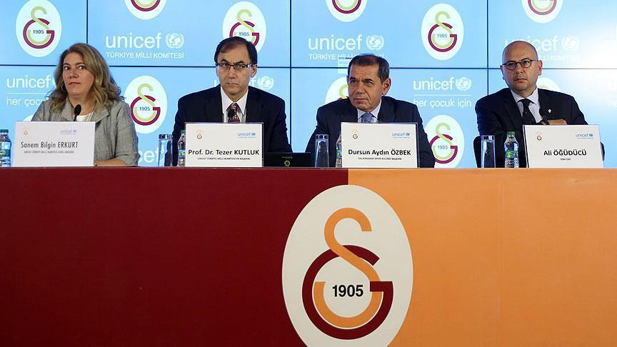 Turkey's Galatasaray teams up with UNICEF