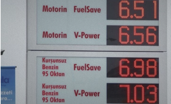 Turkey's gasoline prices increase