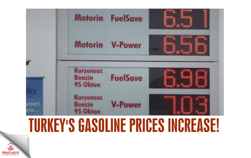 Turkeys gasoline prices increase