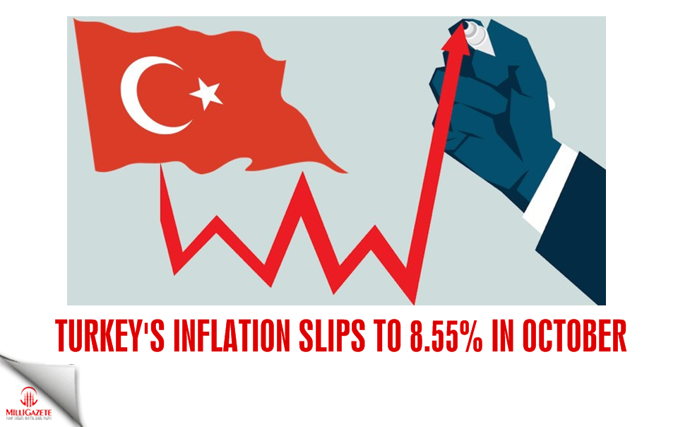 Turkeys inflation slips to 8.55% in October