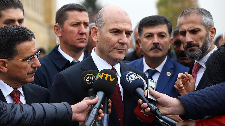 Turkey's interior minister defends ban on gatherings