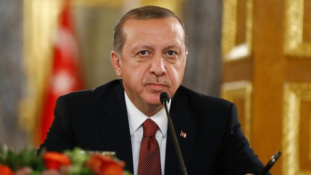 Turkey's President Erdogan addresses a joint press conference in Islamabad