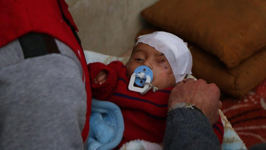 Turkish aid agency reaches Syrian baby Karim