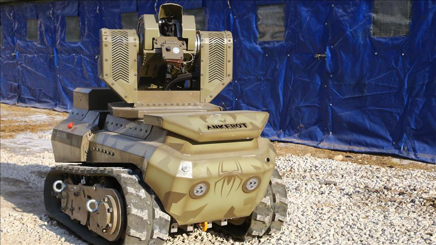 Turkish company develops unmanned mini tank