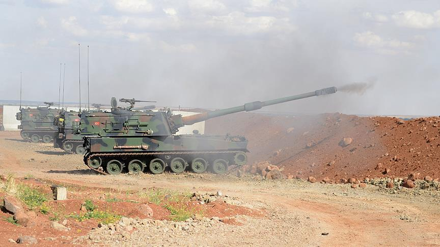 Turkish forces hit 98 Daesh targets in nothern Syria