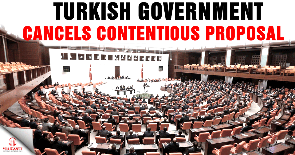 Turkish government cancels contentious proposal