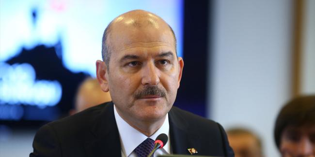 Turkish interior minister has man detained for protesting at election rally
