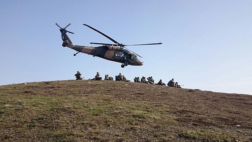 Turkish military says 93 PKK terrorists killed