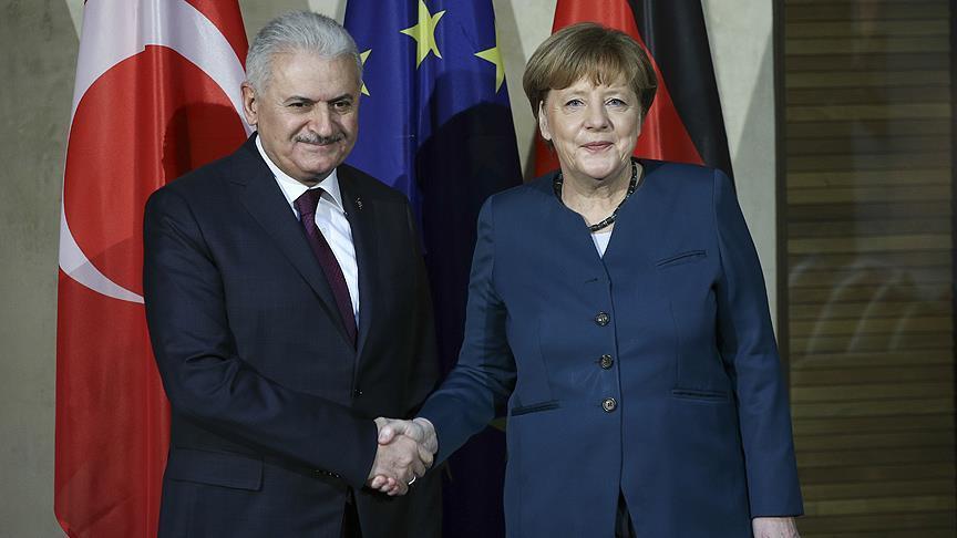 Turkish PM, German Chancellor to discuss Syria
