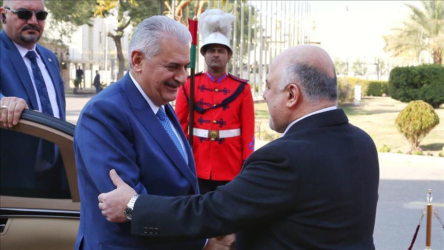 Turkish PM Yildirim arrives in Baghdad