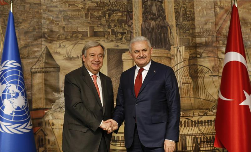 Turkish PM Yildirim, UN chief Guterres meet in Istanbul