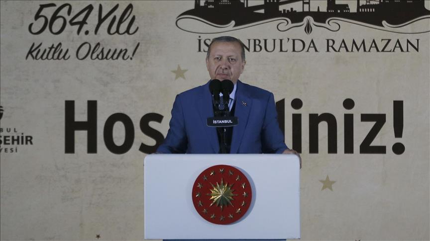 Turkish president celebrates conquest of Istanbul