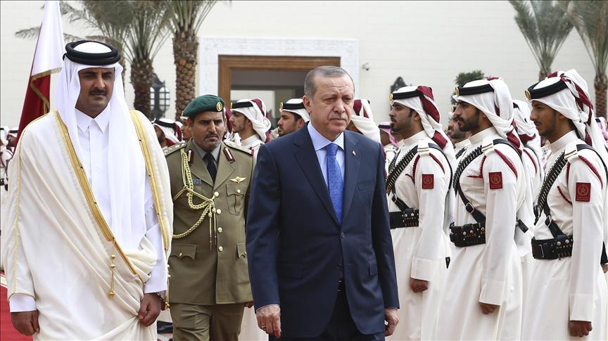 Turkish president Erdogan arrives in Qatar