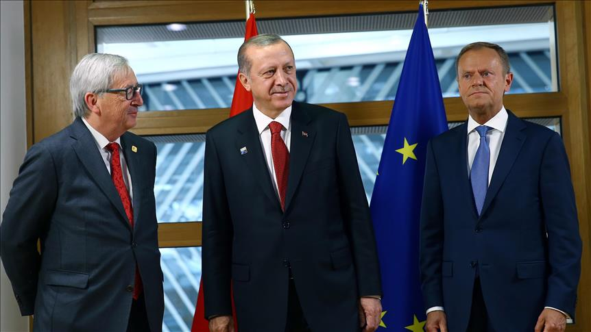 Turkish president Erdogan meets EU leaders