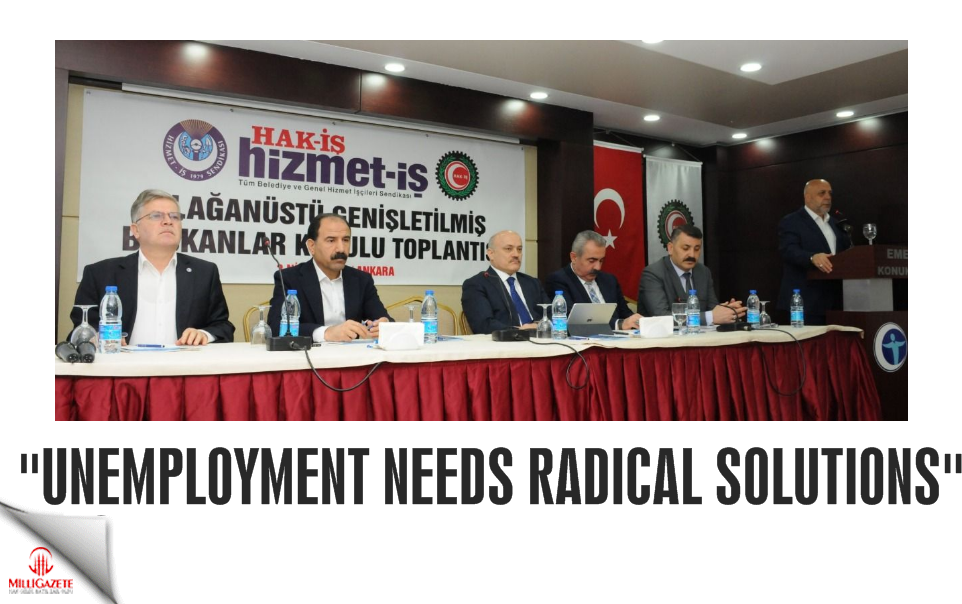 """Unemployment needs radical solutions"""