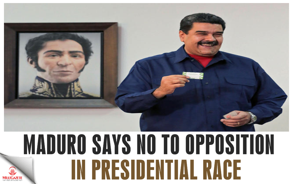 Venezuelan leader says no to opposition in presidential race