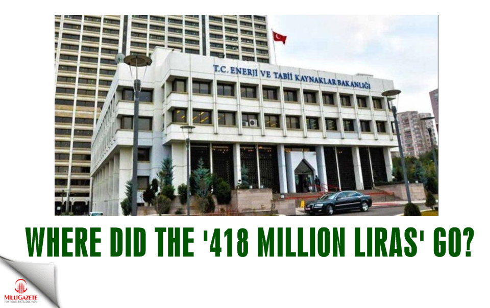 Where did 418 million liras go?