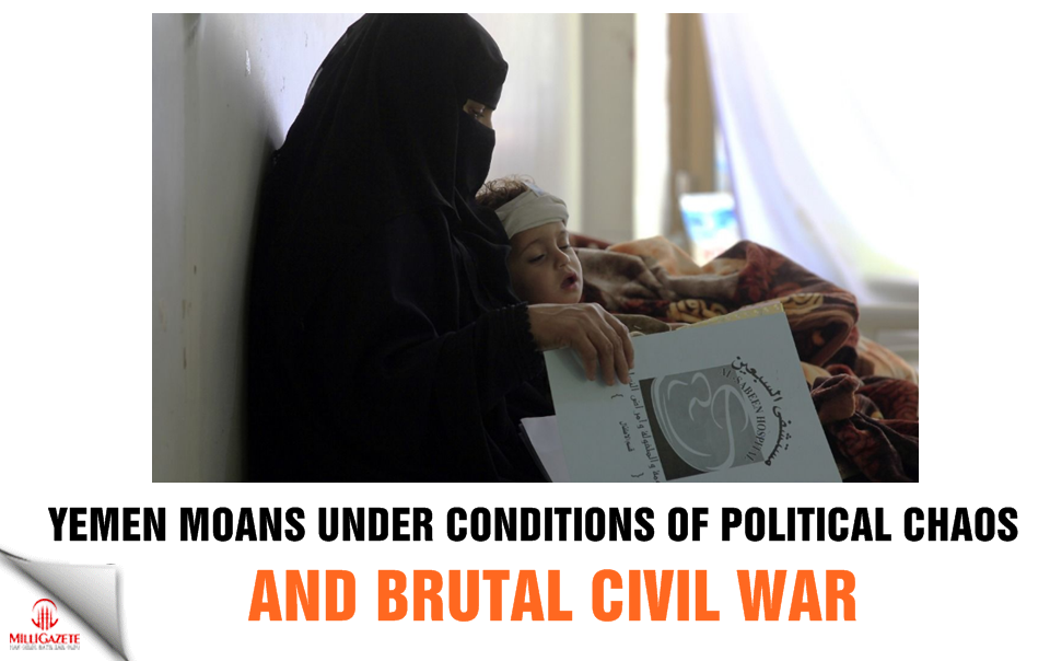 Yemen moans under the conditions of political chaos and brutal civil war