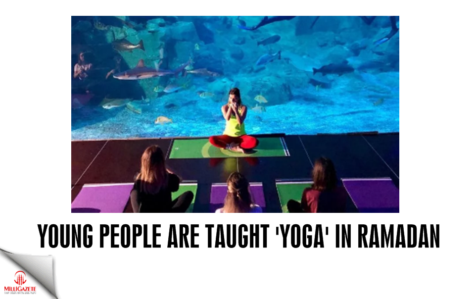 Young people are taught Yoga in Ramadan