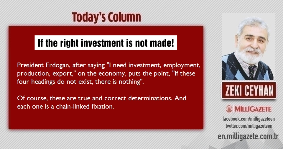 "Zeki Ceyhan: ""If the right investment is not made!"""