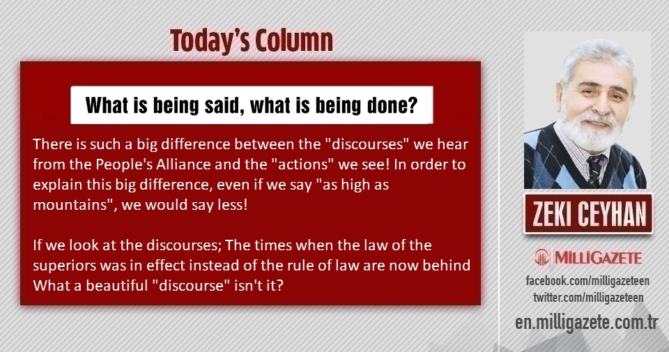 "Zeki Ceyhan: ""What is being said, what is being done?"""