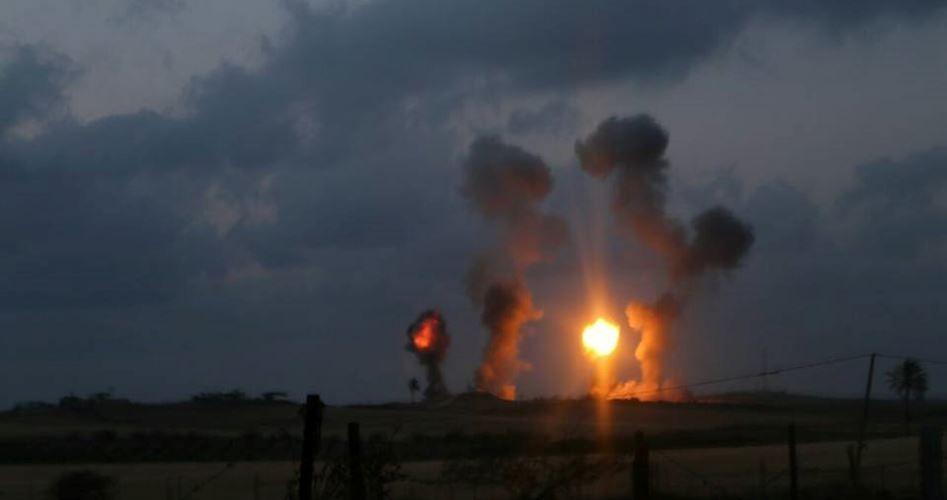 Zionist Israel attacks Gaza Strip